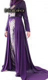 Orane dress with sequins and embroidery