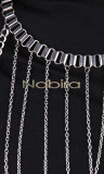 Necklace harness COL28 silver