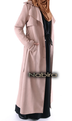 Long trench coat TL19 suede
