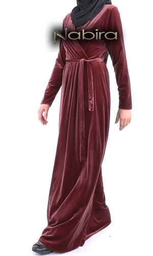 Dress velvet RLP93 wrap-over