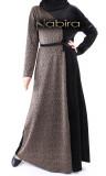 Dress RLP95 velvet and lamé