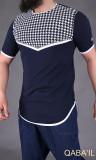 T-shirt bicolore Keffieh Qaba'il
