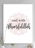 Printed canvas  : End with Alhamdulillah