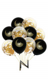 Kit 10 balloons bicolor Eid Mubarak