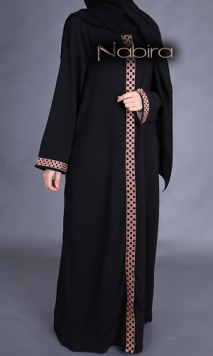 Abaya Aicha open zipped
