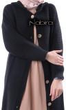 Cardigan maxi GL60 wool hooded