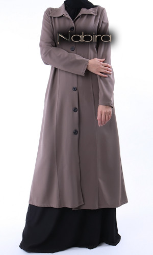 Long jacket GL61 with shirt collar