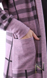 Long cardigan, GL62 checkered