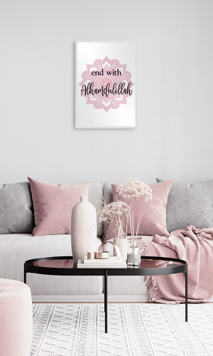 Printed canvas  : End with...