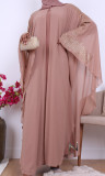 Abaya Dubai Imane cape nidah rhinestone
