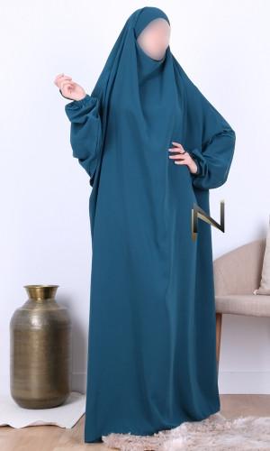 Jilbab 1 piece Mina Wool Peach