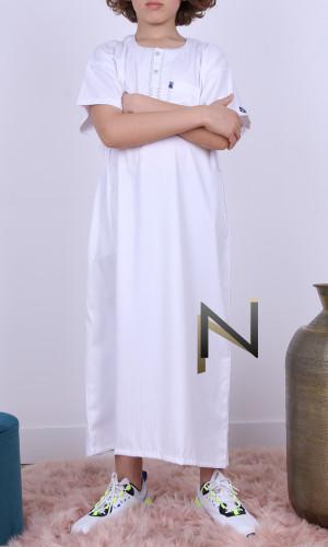 Qamis child IKAF QE13 white