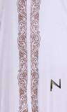 Maxi dress embroidery TC119 3/4 sleeve