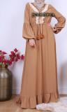 Dress RLP102 with pompoms