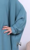 Butterfly abaya girl AF50 Saphyr fabric (Medina silk style)