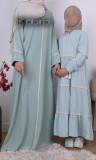 Girl dress lace RFE04  Saphyr fabric (Medina silk style)