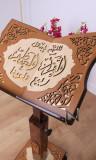 Quran desk with wheels