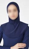 Multisport hijab B009 integrated bonnet
