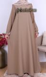 Abaya Camelia gathered cuffs and Saphyr fabric (Medina silk style)