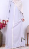 Djellaba DJP25 light fabric and ecru sfifa