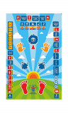 Colorful interactive prayer mat