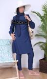 Burkini turban BK88 smocked collar and cuffs