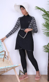 Burkini turban BK91 crossed skirt with patterns diamond