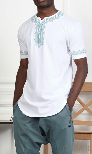 T-shirt ETNIZ embroidered...
