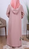 Djellaba girl DJPE02 light fabric and ecru sfifa