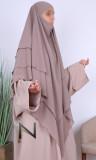 Khimar 3 veils KH06 crepe
