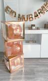 Kit of 3 transparent Eid decorative boxes