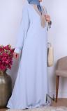 Maxi Dress golden collar RLP109  fabric HQ Moroccan style