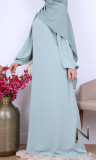 Abaya Alaia puffed sleeves