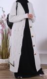 Cardigan maxi GL65 twisted wool