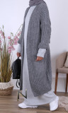 Long cardigan GL67 loose fit and mohair wool