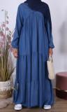 Bohemian denim dress RLP116 with inserts