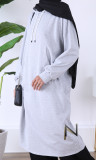 Sports tunic TQC28 hooded sweatshirt with pocket